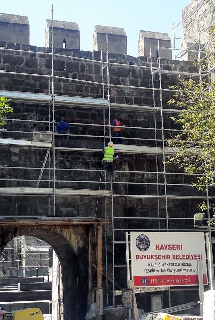 Tarihi Kayseri Kalesi, kültür merkezi oluyor