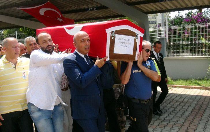 Boğulan polis memurunun cenazesi Ankara'ya uğurlandı
