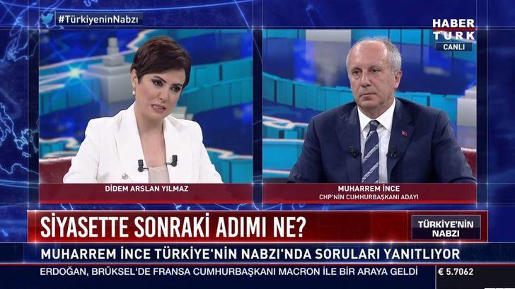Sosyal medyada Muharrem İnce tepkisi! Habertürk TV'ye katıldı...