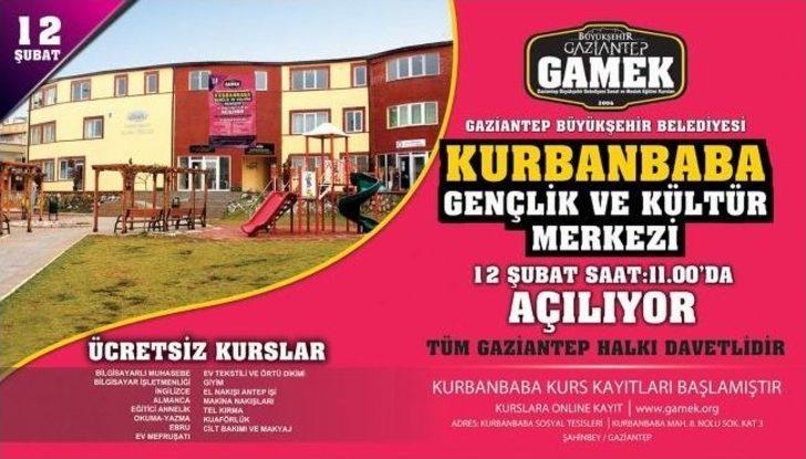 Gamek Kurbanbaba Gençlik Ve Kültür Merkezi Açılıyor