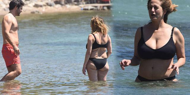Kenan Ece ile Canan Ergüder halk plajında aşk tazeledi