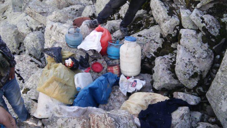 PKK sığınağında patlayıcı ve yaşam malzemesi ele geçti