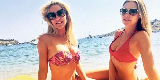 Serdar Ortaç'ın eşi Chloe Loughnan annesiyle tatilde