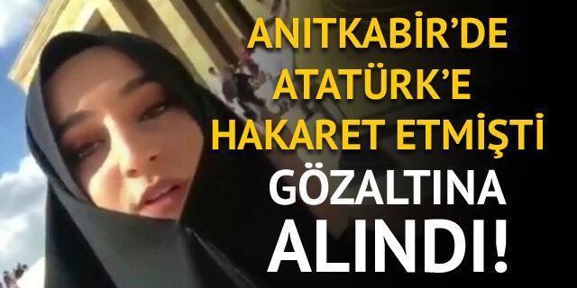 Anıtkabir'de Atatürk'e hakaret eden Safiye İnci gözaltına alındı