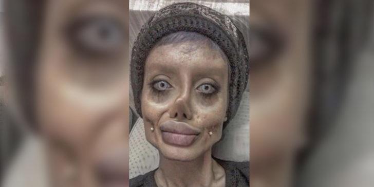 Angelina Jolie'ye benzemek istemişti! Gerçek hali böyleymiş