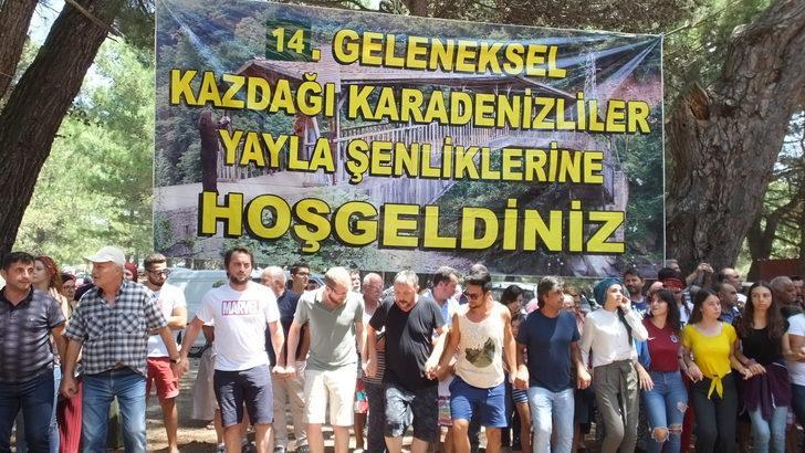 Karadenizliler, 14'üncü Kazdağı Yayla Şenliği'nde buluştu