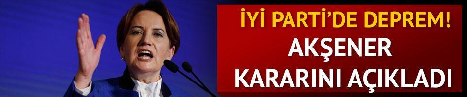 Meral Akşener'den son dakika açıklaması