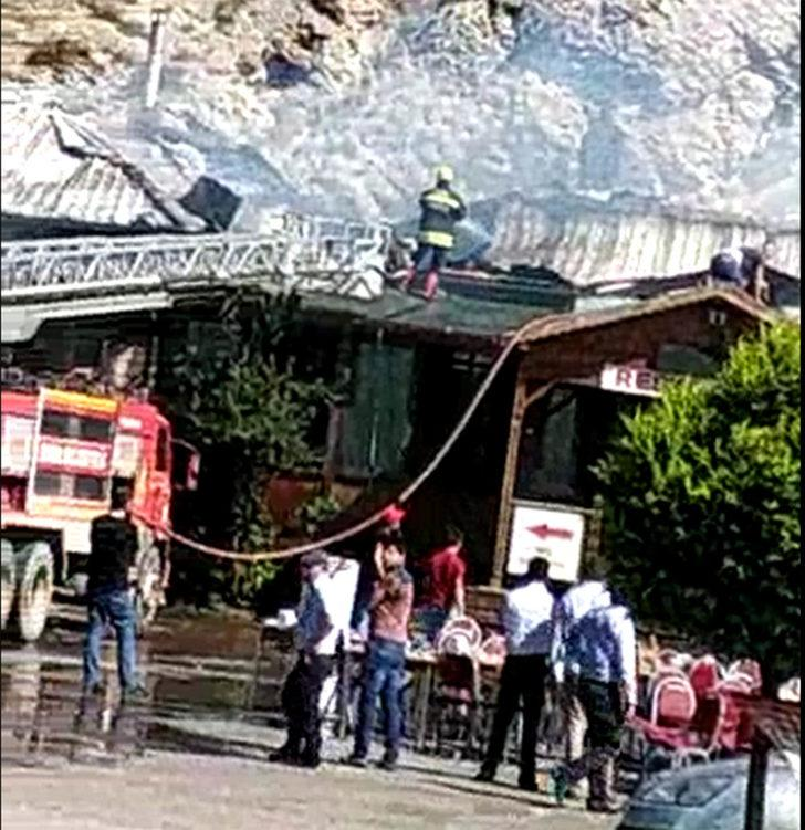 Akaryakıt istasyonunun lokantasında yangın