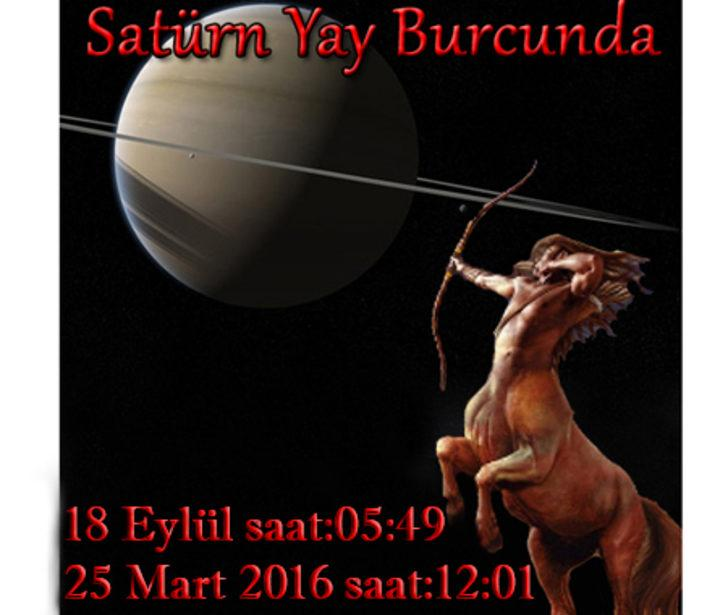 Satürn, Yay burcunda düz seyrediyor!