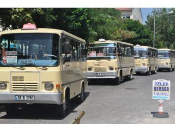 Lüleburgaz'da Minibüs Ücretlerine Zam