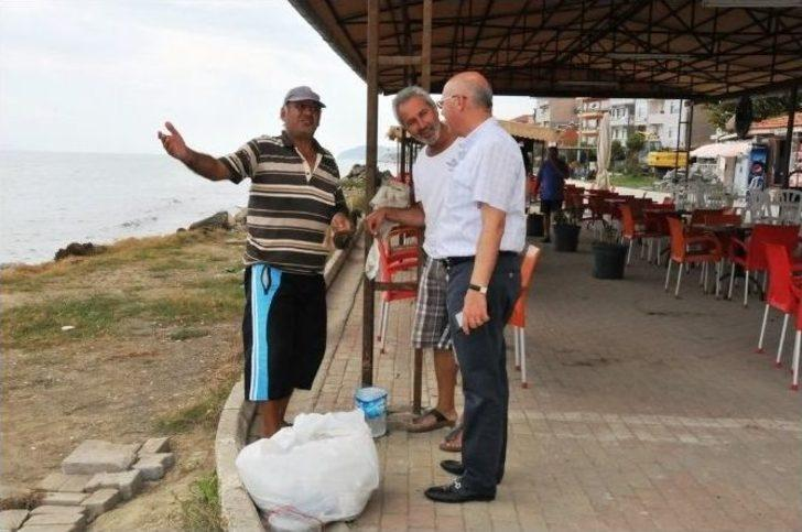 Süleymanpaşa Belediye Başkanı Eşkinat, Altınova Sahilinde İncelemelerde Bulundu