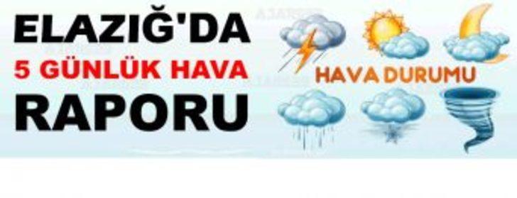 Elazığ'da 5 günlük hava durumu - Elazığ Haberleri