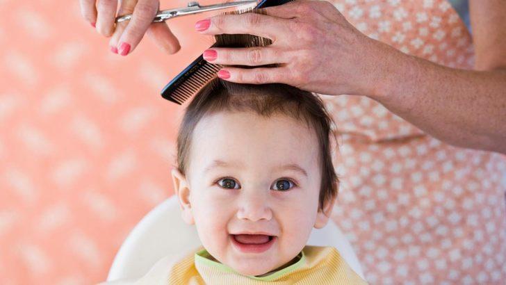 Bebeklerin saçı nasıl kesilmeli?