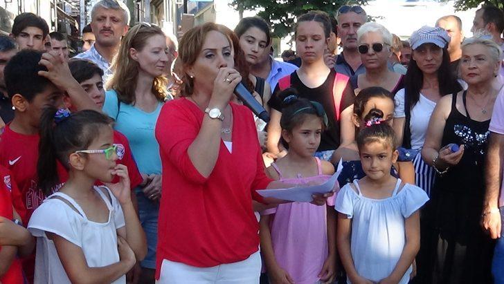 "Silivri'de ""çocuk istismarı"" protestosu"