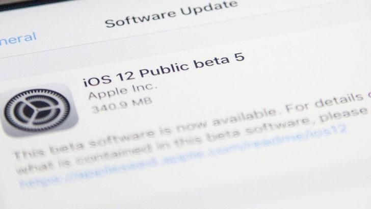 iOS 12 Public Beta 5 yükle!