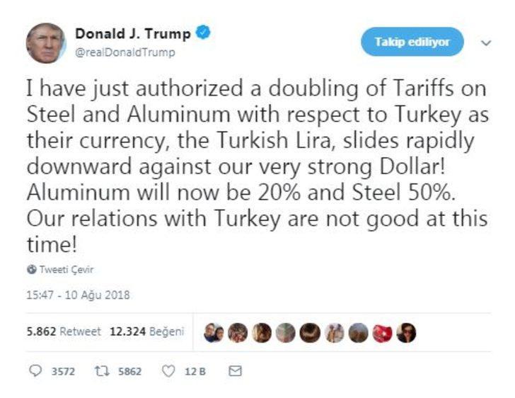 Trump, Türkiye'ye uygulanan alüminyum ve çelik vergilerini artırma talimatı verdi