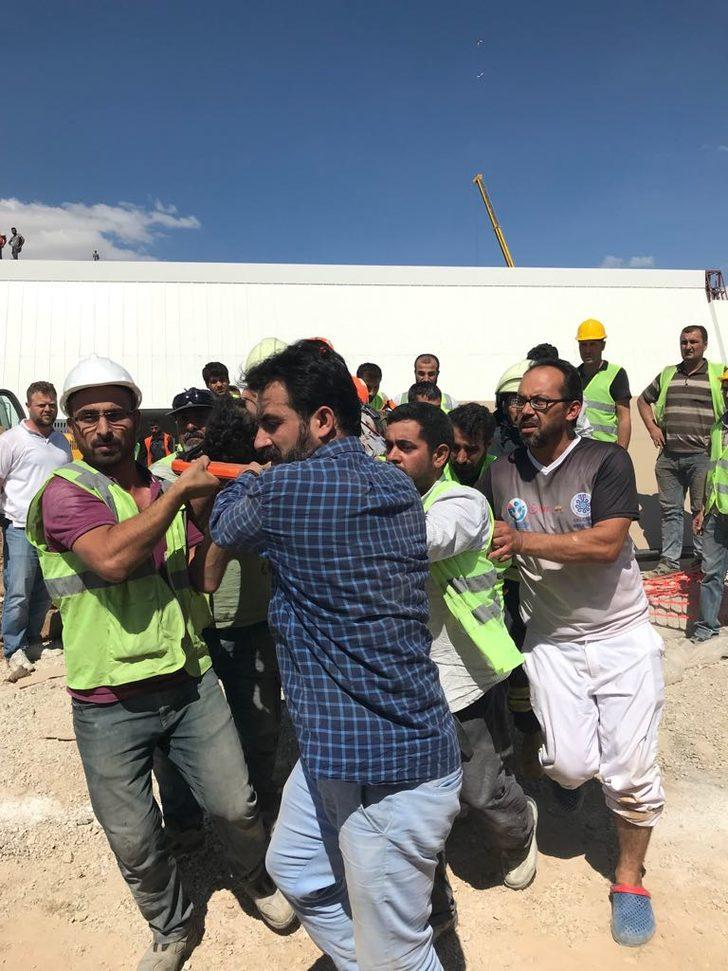 YHT gar inşaatında göçük: 1 yaralı