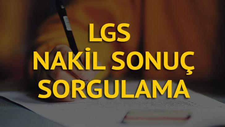 LGS 1. nakil sonuçları açıklandı! 1. Yerleştirmeye Esas nakil sonuçları sorgula! (MEB 2019 LGS nakil tercih başvuru sonuç takvimi)