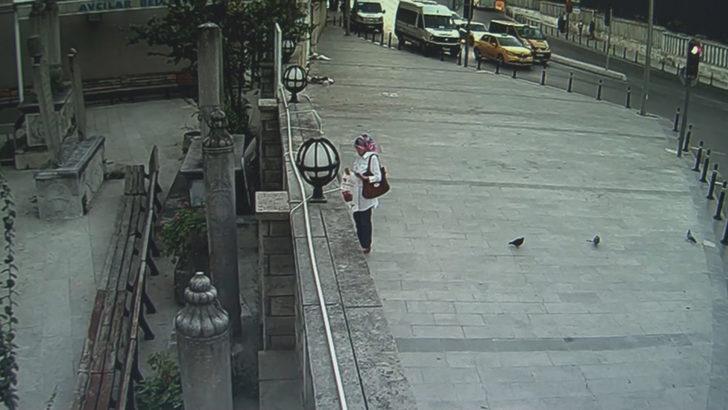 Üsküdar'da kaza güvenlik kamerasında