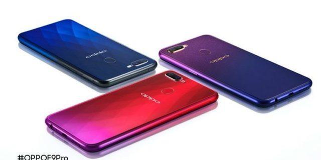 Oppo F9 Pro ışığa göre renk değiştiriyor