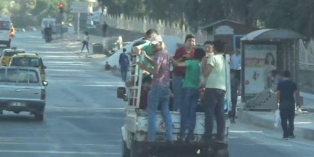 Çocukların kamyonet kasasında ölüm yolculuğu