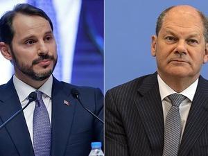 Bakan Albayrak, Alman Finans Bakanı ile görüştü