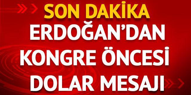 Cumhurbaşkanı Erdoğan'dan AK Parti kongresinde açıklamalar