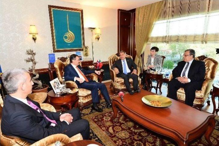 Gökçek, Tataristan Cumhurbaşkanı Minnihanov'u Ağırladı