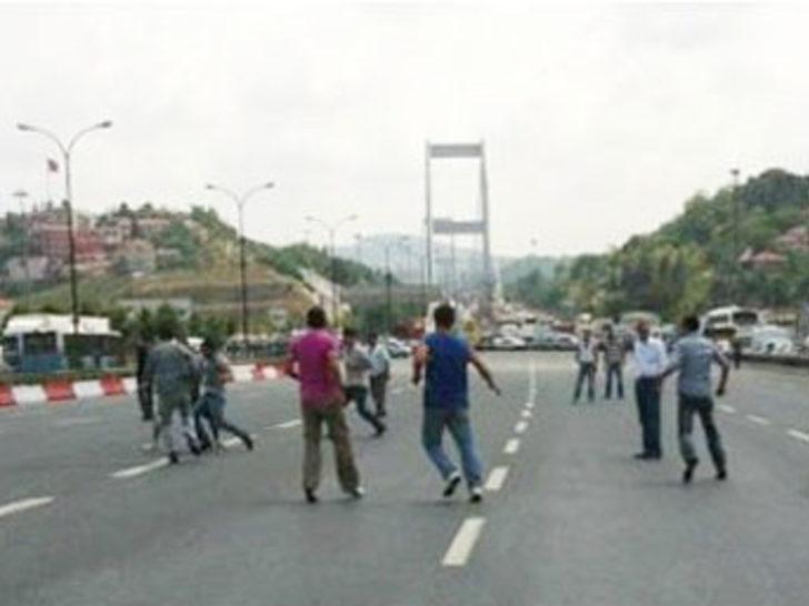 Fatih Sultan Mehmet Köprüsü'nde maç keyfi