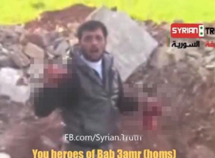 Suriye askerinin kalbini yedi