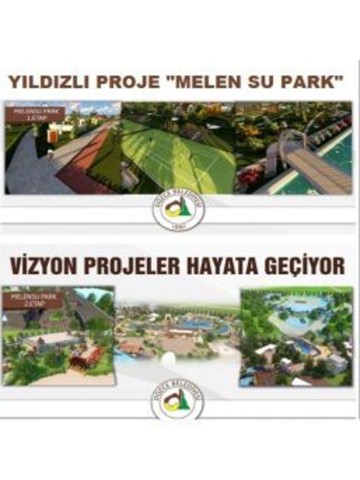 """Yıldızlı Proje """"melen Su Park"""" Oldu"""