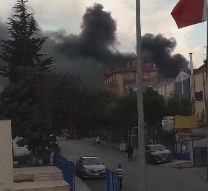 Beylikdüzü'nde fabrika yangını-2