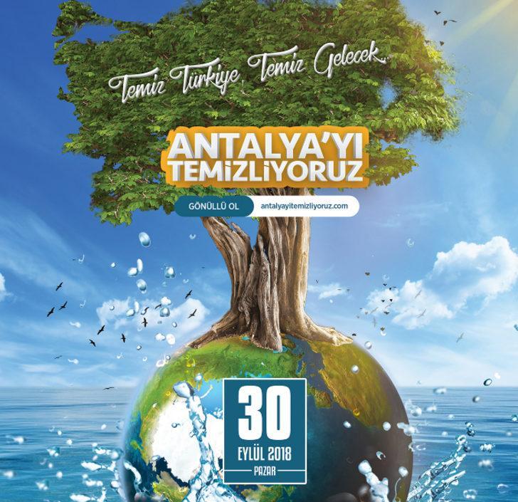 100 Bin Gönüllü, 30 Eylül'de Antalya'yı Temizleyecek ile ilgili görsel sonucu