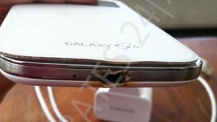 Galaxy S4 de patladı