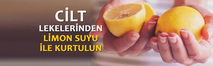 Limonun cilde faydaları! Cilt lekelerinden anında kurtulacaksınız
