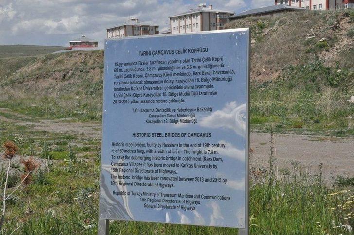 Tarihi Demir Köprü Kaü'de Öğrencilere Hizmet Veriyor