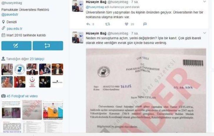 Pamukkale Üniversitesi Rektörü Bağ, Görevden Almayı Belgeyle Savundu