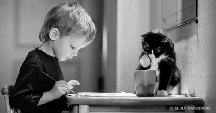 Çocuklara neden kedi gerektiğinin kanıtı 20 fotoğraf