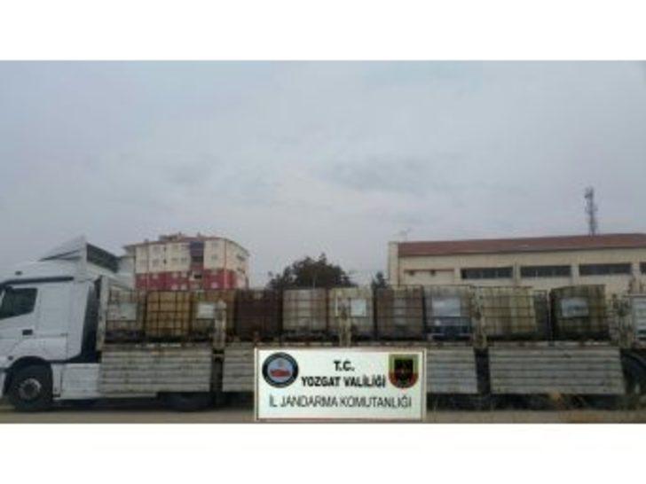 Yozgat'ta 19 Bin Litre Madeni Yağ Ele Geçirildi