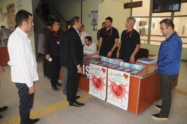 Cizre Devlet Hastanesi Organ Bağışı Standı Açtı