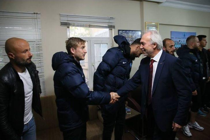 Başkan'dan Kütahyaspor'a Moral Ziyareti