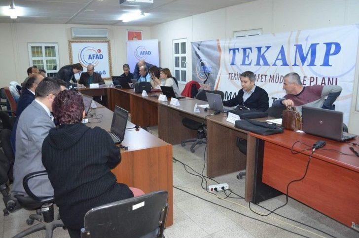 Tekirdağ'da Masa Başı Deprem Tatbikatı Yapıldı