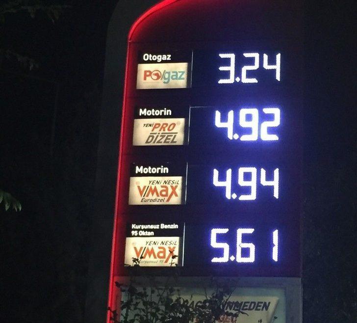 Motorinde Tarihi Fiyat; 11 Kuruş Zam Geldi