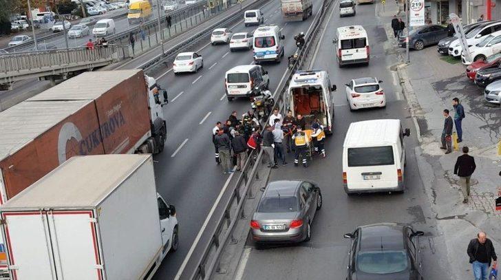 (özel Haber) E-5 Karayolunda Otomobil Motosikletliye Çarptı: 1 Yaralı