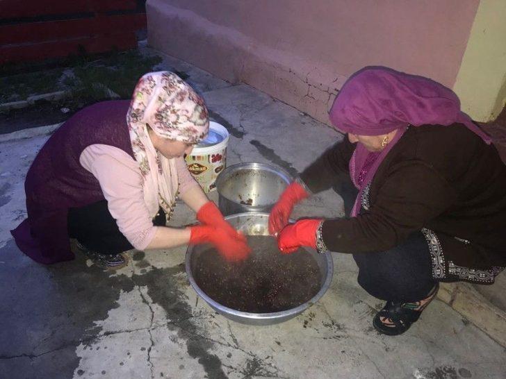 Sarıkamış'ta C Vitamin Deposu Kuşburnu Ramazan İçin Hazırlanıyor