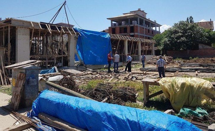 Tokat'ta İnşaat Çöktü: 2 Yaralı