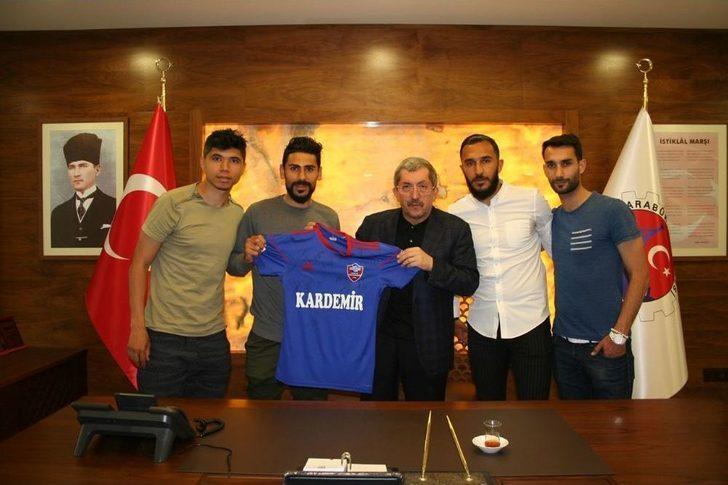 Karabükspor Futbolcularından Başkan Vergili'ye Ziyaret