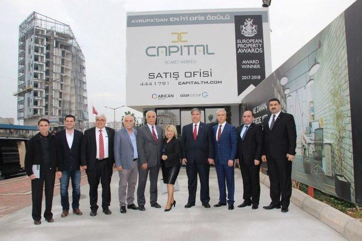 Irak'ın Ankara Büyükelçisi Mersin'de Capital Ticaret Merkezi'ni Ziyaret Etti