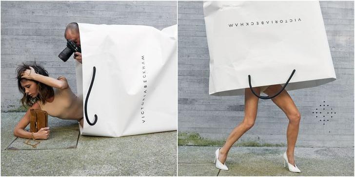 Victoria Beckham, 10 yıl sonra kendi adını taşıyan çantanın içine girdi