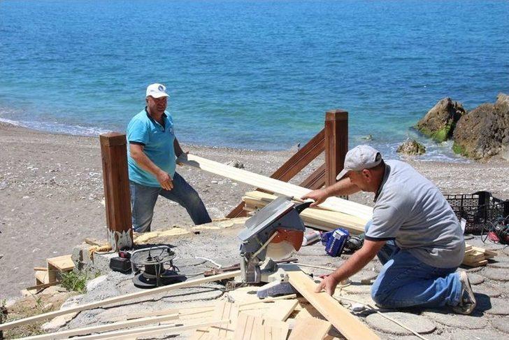Akçakoca Kadınlar Plajı Sezona Hazırlanıyor